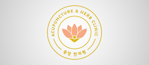 acupuncture lotus logo designs