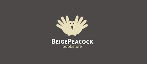 Beige Peacock logo designs