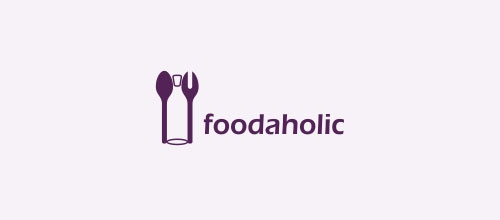 Foodaholic logo designs