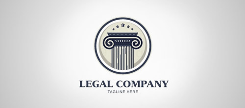 column legal firm logo design