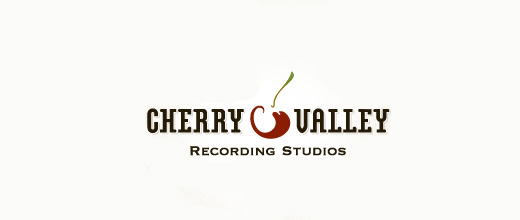 Recording studio cherry logo designs