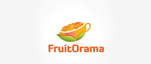 Cup orange logo design