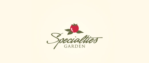 Garden cherry logo designs