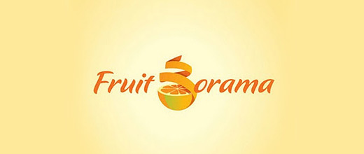 Peeled spiral orange logo design