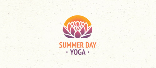yoga lotus logo designs