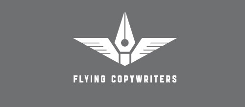 Flying copywriters logo designs