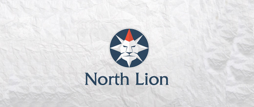 Lion compass logo design collection