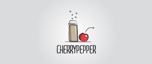 Pepper cherry logo designs