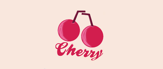 Cute cherry logo designs