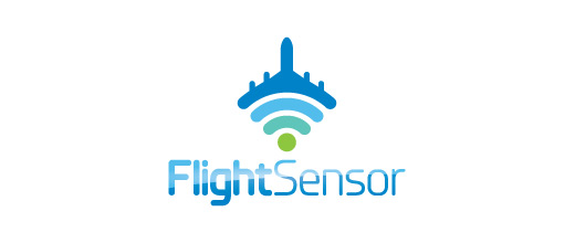 Sensor wifi signal airplane logos design