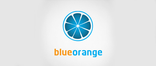 Blue orange logo design