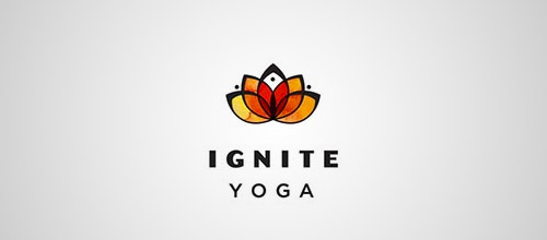 ignite lotus yoga logo designs