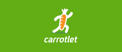 Running carrot logo design collection