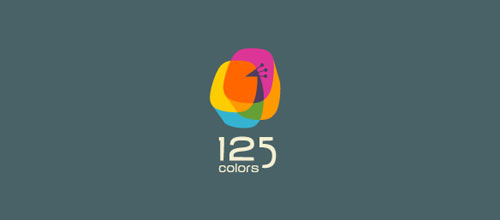 125 Colors logo designs