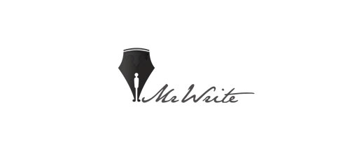 Mr write logo designs