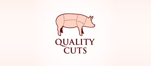 Quality Cuts Butcher logo designs