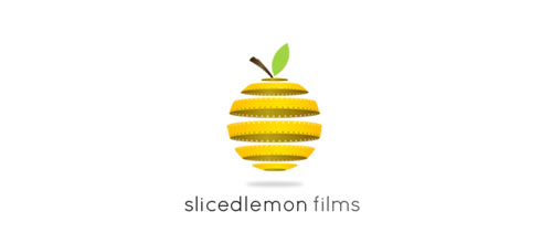 slicedlemon films logo designs