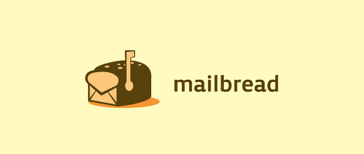 Mail envelope bread logo designs collection