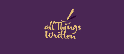 All Things Written logo designs