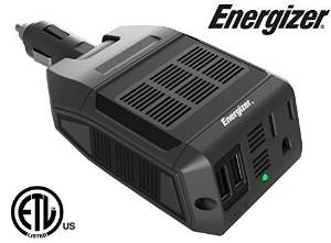 ENERGIZER 100-Watt Ultra-Silent Direct Plug- in Power Inverter