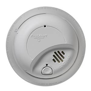 First Alert 9120B6CP 120-Volt Wire-In Smoke Alarm 6-Pack
