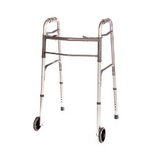 Folding Deluxe Walker Two Button