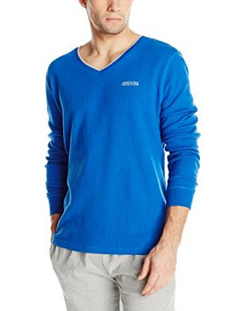 Kenneth Cole Soft Thermal Men's Long Sleeve REACTION V-Neck Top