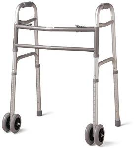 Medline Bariatric dual wheels Folding Walker