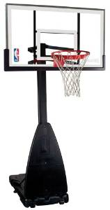 "NBA Portable 54"" Glass Backboard Basketball System from Spalding"