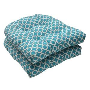 Pillow Perfect Hockley Wicker Outdoor Indoor Seat Cushion