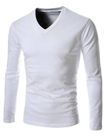 TheLees Men's Colorful Casual Long Sleeve Slim Fit T-shirts