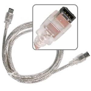 eForCity Male Silver FireWire Cable