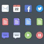 50 Free Gorgeous Flat Icon Sets For Your Designs