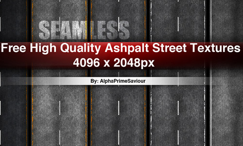 High quality seamless asphalt texture pack