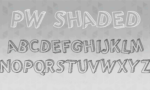 Shade free drop shadow fonts design