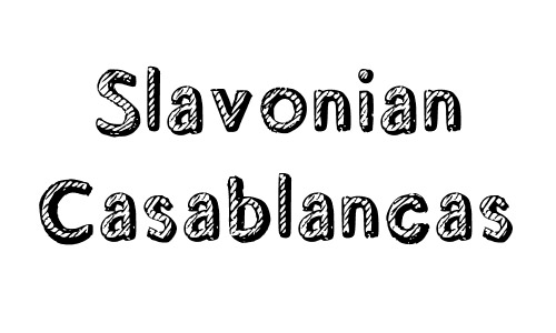 slavonian free drop shadow fonts design