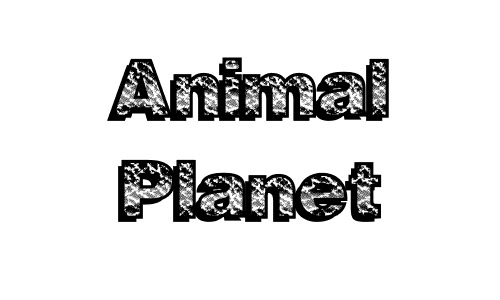Animal free drop shadow fonts design