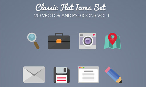 Classical flat app icons