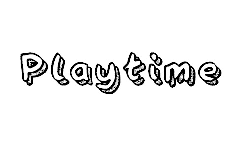 Playtime free drop shadow fonts design