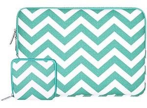 Mosiso Chevron Canvas Fabric Hot Blue Sleeve