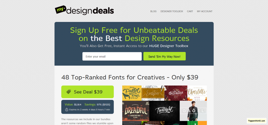 Daily Deals for Graphic Designers and Creative Professionals I MyDesignDeals