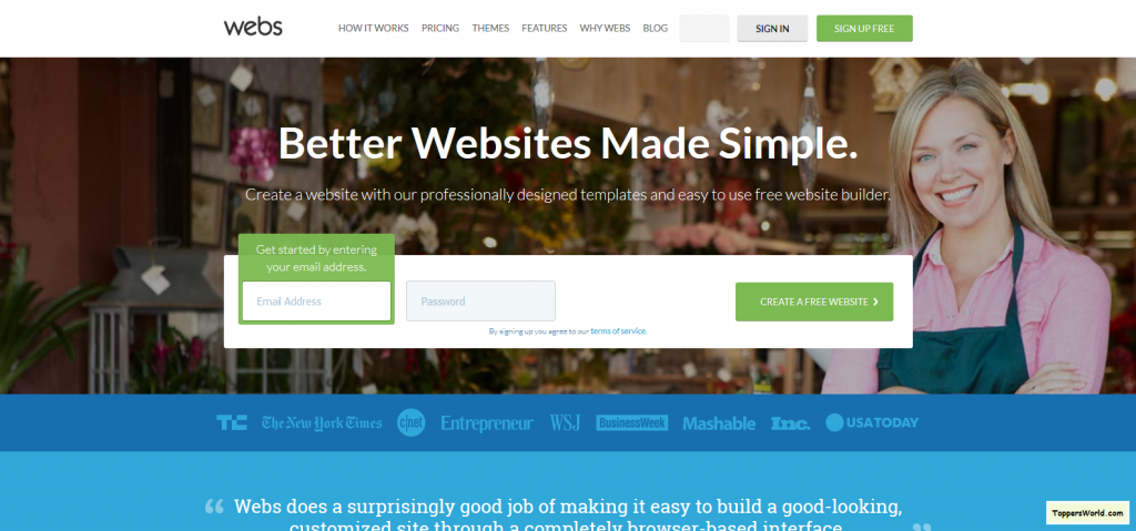 Free Website Builder_ Make a Free Website & Hosting I Webs