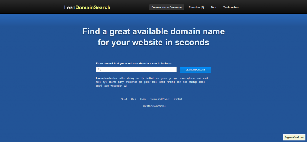 Lean Domain Search I Find a great domain name in seconds