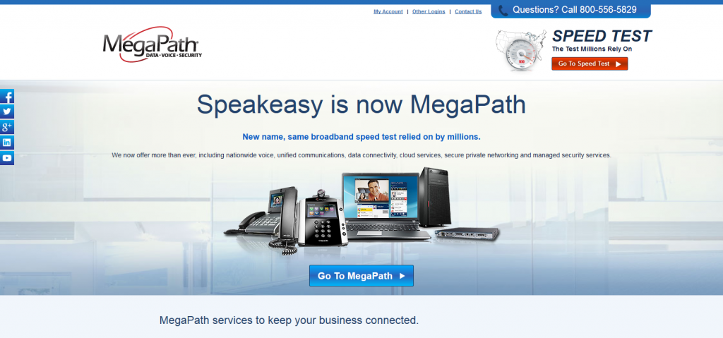 MegaPath - Formerly Speakeasy, MegaPath is a Leader in Business Telecommunications and IP Services