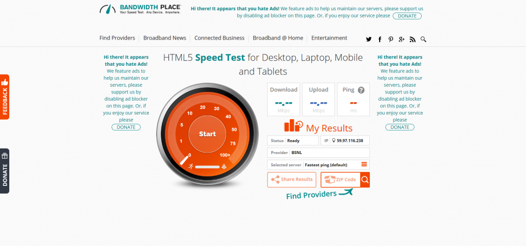 Speed Test - Free Internet Speed Test – HTML5, No App Needed