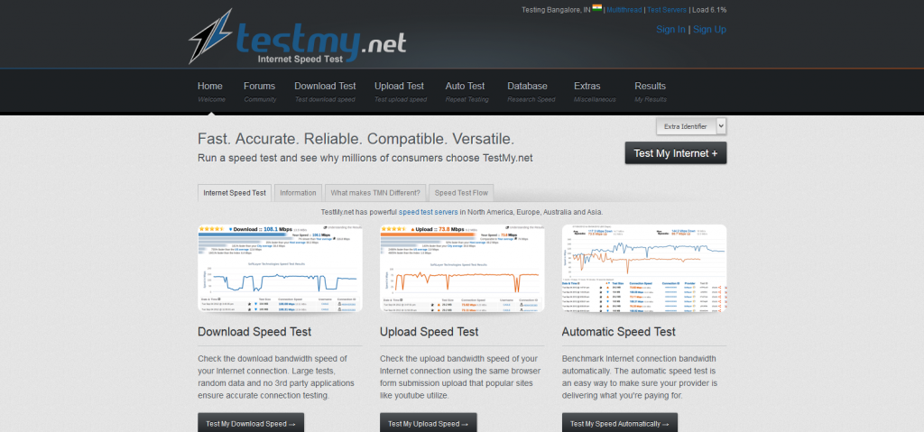 TestMy_net Broadband Internet Speed Test