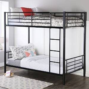 Walker Edison Twin-Over-Twin Metal Bunk Bed