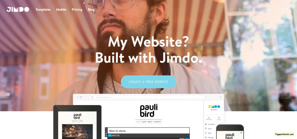 Website Builder_ Create a Free Website - Jimdo