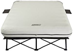 Coleman Queen Airbed Cot with Side Tables
